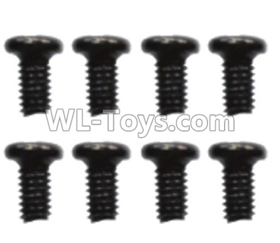 Wltoys 10428-D ST 3x10PB-PWB7 screws(8pcs)-12401.0254,Wltoys 10428-D 1/10 Parts