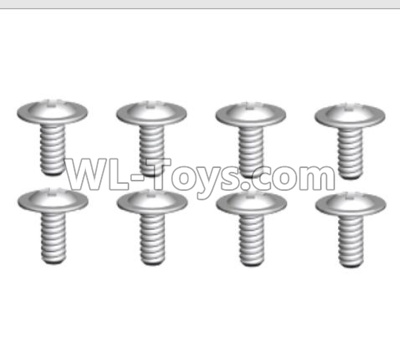 Wltoys 10428-D ST2.6X6-PWB8 Screws(8pcs)-18428-B.0558,Wltoys 10428-D 1/10 Parts