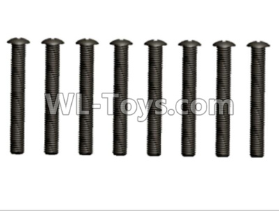 Wltoys 10428-D 2.5x20 Pan head screws(10pcs)-12428.0106,Wltoys 10428-D 1/10 Parts