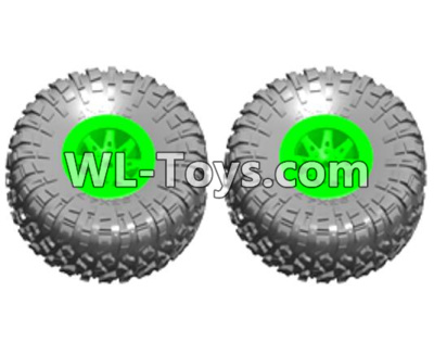 Wltoys 10428-E Wheel unit(2 set)-Green-10428-E.0705,Wltoys 10428-E 1/10 Parts