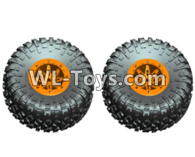 Wltoys 10428-E Wheel unit(2 set)-Orange-10428-D.0690,Wltoys 10428-E 1/10 Parts