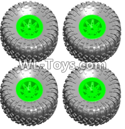 Wltoys 10428-E Wheel unit(4 set)-Green-10428-E.0705,Wltoys 10428-E 1/10 Parts