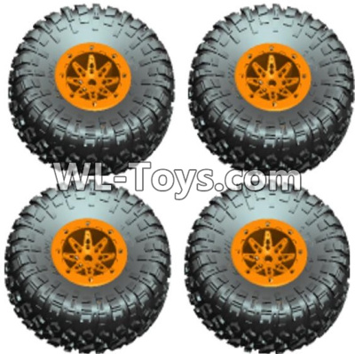 Wltoys 10428-E Wheel unit(4 set)-Orange-10428-D.0690,Wltoys 10428-E 1/10 Parts