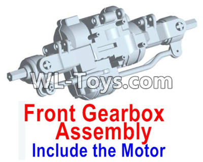 Wltoys 10428-E Front drive gearbox assembly (lithium version)-Include the Motor-10428-D.0698,Wltoys 10428-E 1/10 Parts