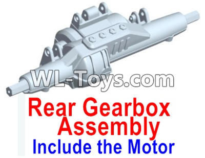 Wltoys 10428-E Rear drive gearbox assembly (lithium version)-Include the Motor-10428-D.0696,Wltoys 10428-E 1/10 Parts
