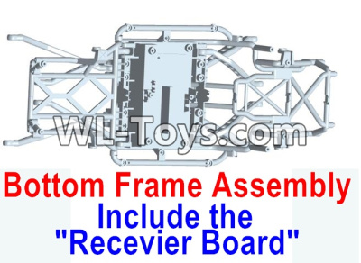 Wltoys 10428-E Bottom frame assembly-(Include the Receiver board)-10428-D.0699,Wltoys 10428-E 1/10 Parts