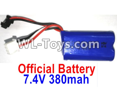 Wltoys 10428-E Battery-1pcs-7.4V 380mah Battery with SM Plug-10428-D.0700,Wltoys 10428-E 1/10 Parts