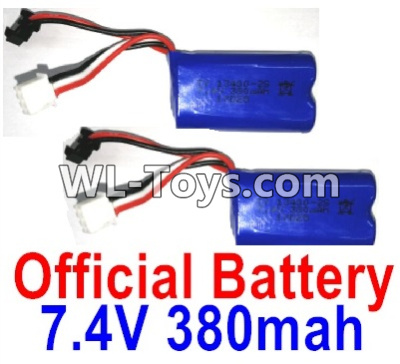 Wltoys 10428-E Battery-2pcs-7.4V 380mah Battery with SM Plug-10428-D.0700,Wltoys 10428-E 1/10 Parts