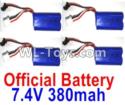 Wltoys 10428-E Battery-4pcs-7.4V 380mah Battery with SM Plug-10428-D.0700,Wltoys 10428-E 1/10 Parts
