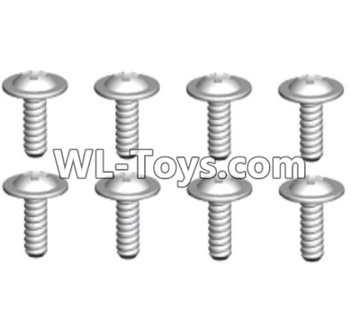 Wltoys 10428-E ST2.6x4.5-PWB7 screws(8pcs)-10428-D.0692,Wltoys 10428-E 1/10 Parts