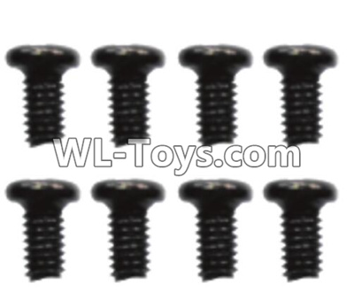 Wltoys 10428-E ST 3x10PB-PWB7 screws(8pcs)-12401.0254,Wltoys 10428-E 1/10 Parts