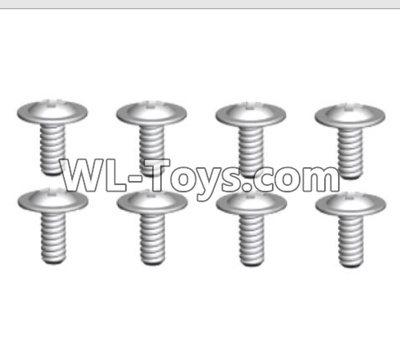 Wltoys 10428-E ST2.6X6-PWB8 Screws(8pcs)-18428-B.0558,Wltoys 10428-E 1/10 Parts