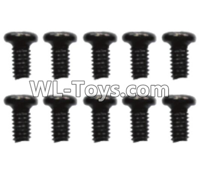 Wltoys 10428-E 2.6x6 Pan head screws(10pcs)-A949-38,Wltoys 10428-E 1/10 Parts