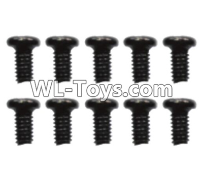 Wltoys 10428-E 2.6x8 Pan head screws(10pcs)-L959-57,Wltoys 10428-E 1/10 Parts