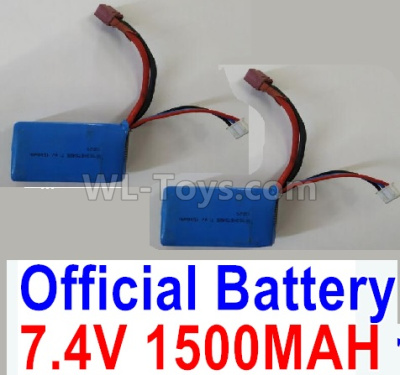 Wltoys 124012 Battrey Parts-7.4V 1500mAh 25C Battery-62x33.5x20mm(1PCS)-A959-B-23,1/12 Wltoys 124012 Parts