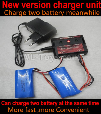 Wltoys 124012 Upgrade version charger-Can Charge Two battery at the same time(Not include the 2x Battery),1/12 Wltoys 124012 Parts