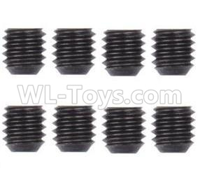 Wltoys 124012 M3 Machine Screws for the Motor Gear(8PCS)-M3X3-12428.0098,1/12 Wltoys 124012 Parts
