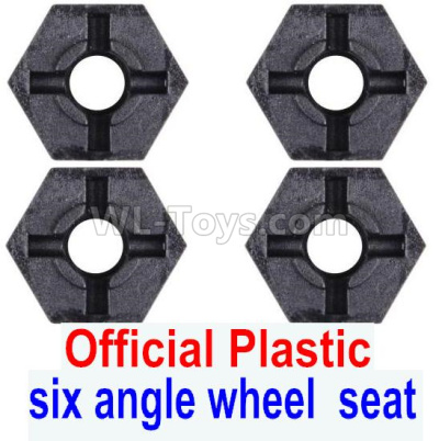 Wltoys 124012 Combination device Parts, six angle wheel seat-Plastic(4pcs)-124011.1233,1/12 Wltoys 124012 Parts
