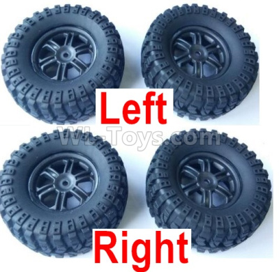 Wltoys 124012 Left and Right Wheel Assembly Parts(Total 4 set),1/12 Wltoys 124012 Parts