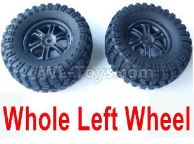 Wltoys 124012 Left Wheel Assembly Parts(2 Set)-Whole Left Wheel,include the Tire lether,Wheel Hub,sponge-124011.0974,1/12 Wltoys 124012 Parts