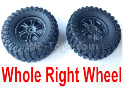 Wltoys 124012 Right Wheel Assembly Parts(2 Set)-Whole Right Wheel,include the Tire lether,Wheel Hub,sponge124011.0975,1/12 Wltoys 124012 Parts