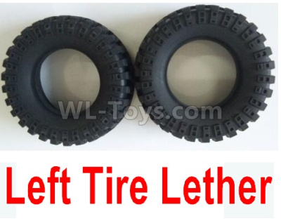 Wltoys 124012 Left Tire Lether Parts(2pcs)-Not include the Wheel Hub-124011.0968,1/12 Wltoys 124012 Parts