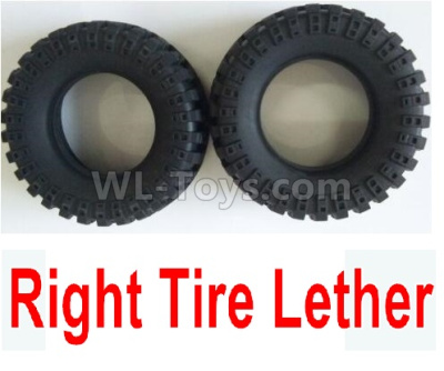 Wltoys 124012 Right Tire Lether Parts(2pcs)-Not include the Wheel Hub-124011.0969,1/12 Wltoys 124012 Parts