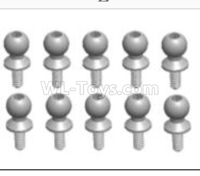 Wltoys 124012 Ball head B(M4.9X13)-8PCS-L303-42,1/12 Wltoys 124012 Parts