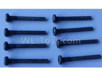 Wltoys 124012 Cross round head step machine screw Parts(8pcs) -3x23PM,D5.5 upper half tooth,Thread length 5-124011.0985,1/12 Wltoys 124012 Parts