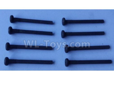 Wltoys 124012 Cross round head step machine screw Parts(8pcs) -3x28PM,D5.5 upper half tooth,Thread length 5-124011.0986,1/12 Wltoys 124012 Parts