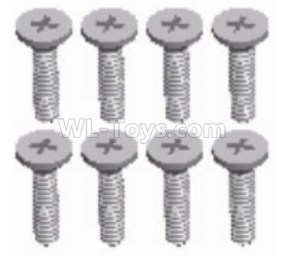 Wltoys 124012 Cross countersunk head screw Parts(8pcs) -3x8KB-D5.5-124011.1231,1/12 Wltoys 124012 Parts