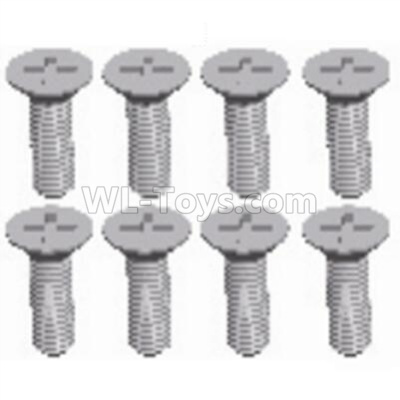 Wltoys 124012 Cross recessed Flat head screws Parts(8PCS)-M2.5X8 KM-12428.0114,1/12 Wltoys 124012 Parts