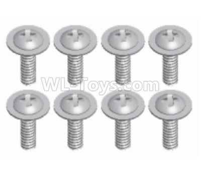 Wltoys 124012 Round head with self-tapping screws Parts(8pcs)-2.6x6-L959-62,1/12 Wltoys 124012 Parts