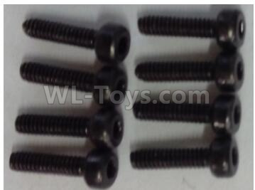 Wltoys 124012 Cup head hex head screw Parts-M2x8(8pcs)-10428-B.0334,1/12 Wltoys 124012 Parts