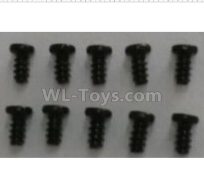 Wltoys 124012 Round head self-tapping screws (10pcs)-2.6x6-A949-38,1/12 Wltoys 124012 Parts