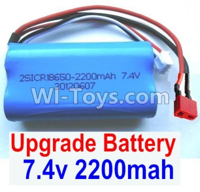 Wltoys 12402 Upgrade Battery Parts-7.4v 2200mah battery with T-shape plug(1pcs)-Size-65X38X18mm,Wltoys 12402 Parts