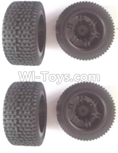 Wltoys 12402 Front and Rear wheel unit Parts-(Total 4pcs),Wltoys 12402 Parts