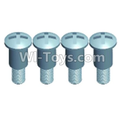 Wltoys 12402-0275 Pan head Half tooth screws(4PCS)-M3X10-Bottom tooth lehgth 5mm,Wltoys 12402 Parts