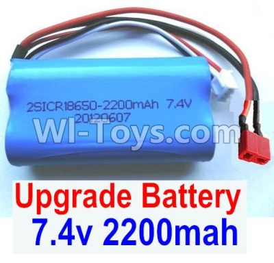 Wltoys 12404 Upgrade Battery Parts-7.4v 2200mah battery with T-shape plug(1pcs)-Size-65X38X18mm,Wltoys 12404 Parts