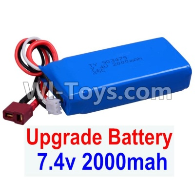 Wltoys 12404 Upgrade 7.4V 2000mah Battery(1pcs)-Size-80X35X19mm,Wltoys 12404 Parts