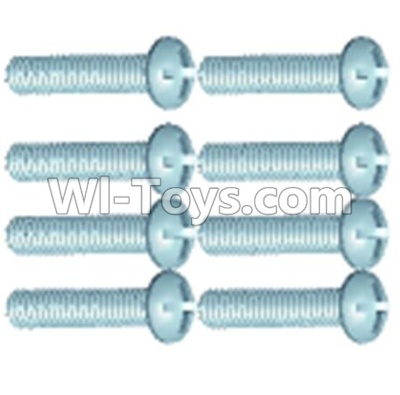 Wltoys 12404 0253 Pan head screws(8PCS)-M2.6X12,Wltoys 12404 Parts