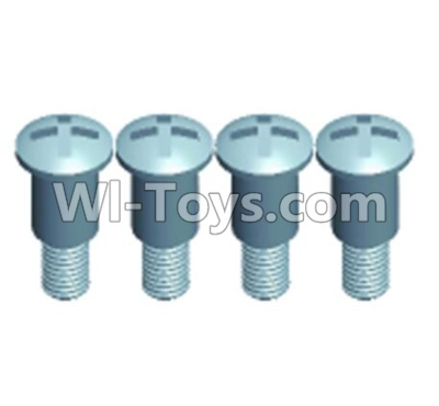 Wltoys 12404 0275 Pan head Half tooth screws(4PCS)-M3X10-Bottom tooth lehgth 5mm,Wltoys 12404 Parts