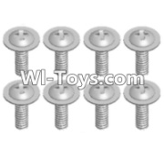 Wltoys 12423 Pan head screws Parts with cross media(8PCS)-M2X8 PMW Parts,Wltoys 12423 Parts