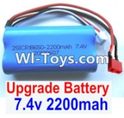 Wltoys 12423 Upgrade Battery Parts-7.4V 2200MAH Battery 15C With T-Shape Plug(1pcs)-Size-65X38X18mm Parts,Wltoys 12423 Parts