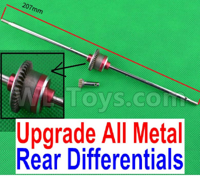 Wltoys 12423 Upgrade All Metal Rear Differentials Assembly-12423.00133,Wltoys 12423 Parts