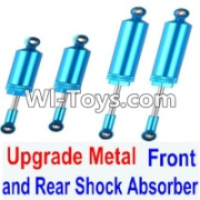 Wltoys 12423 Upgrade Metal Front and Rear Shock Absorber Parts(Total 4pcs) Parts,Wltoys 12423 Parts