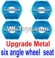 Wltoys 12423 Upgrade Metal Combination device, six angle wheel seat Parts(4pcs) Parts,Wltoys 12423 Parts