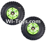 Wltoys 12423 Whole Left Wheel unit(Include the Wheel,Trie leather,upper and bottom wheel cover)-2pcs,Wltoys 12423 RC Car Spare Parts Replacement Accessories,1:12 Scale 4wd,2.4G 12423 rc racing car Parts,On Road Drift Racing Truck Car