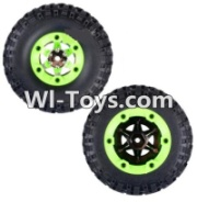 Wltoys 12423 Whole Right Wheel unit(Include the Wheel,Trie leather,upper and bottom wheel cover)-2pcs,Wltoys 12423 RC Car Spare Parts Replacement Accessories,1:12 Scale 4wd,2.4G 12423 rc racing car Parts,On Road Drift Racing Truck Car