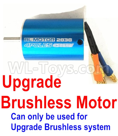 Wltoys 12428-A Upgrade Brushless motor(2838 motor,3800kv)-Can only be used for Upgrade Brushless setacing Truck